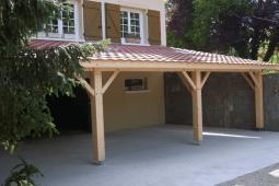 Auvent bois terrasse
