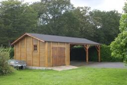 Garage 2 voitures Béton aspect bois