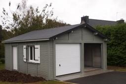 Garage en Béton aspect bois