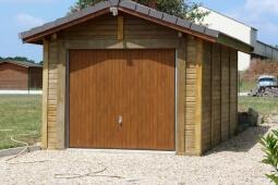 Garage 1 place Béton aspect bois