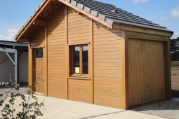 Garage Béton aspect bois