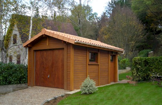 Garage Béton aspect bois Doizon par Abridis